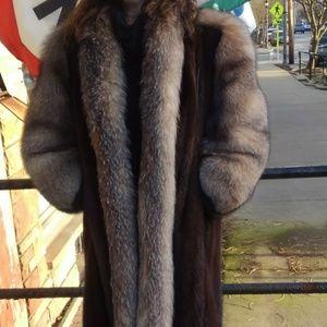 Stunning Mink w/ Fox or Coyote Fur Coat